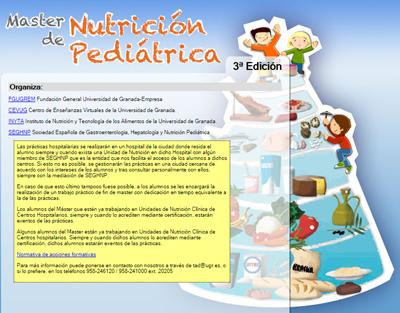 MASTER DE NUTRICION PEDIATRICA 3 EDICION SEINAP, Investigación en Nutrición y Alimentación en Pediatría